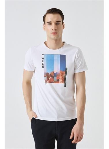 Tween Baskılı T-Shirt Beyaz
